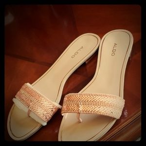 Aldo beautiful slip on sandals size 8.5
